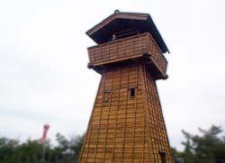 中世の物見櫓(池田城関係の図録)